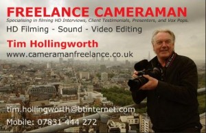 Freelance Cameraman New Business Cards