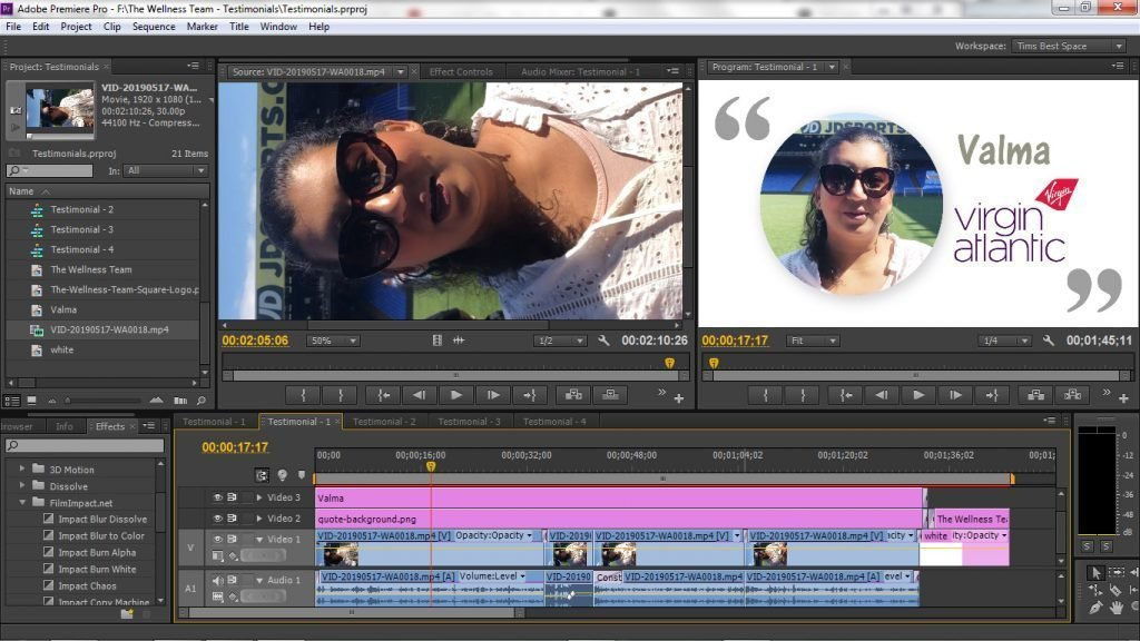 Client Testimonial Video Editing Software