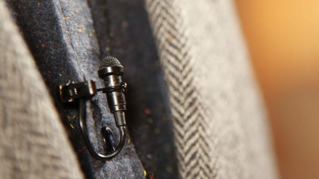 Freelance Cameraman Yorkshire UK Tie Clip Mic